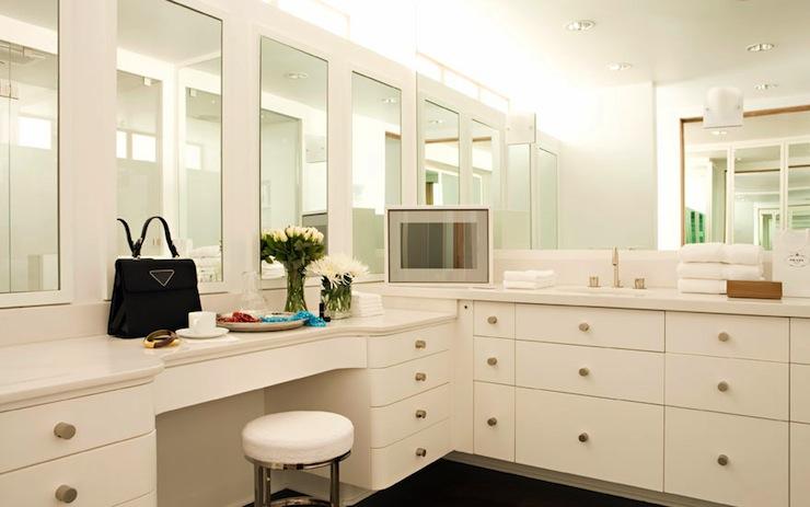 bathroom make up area design ideas