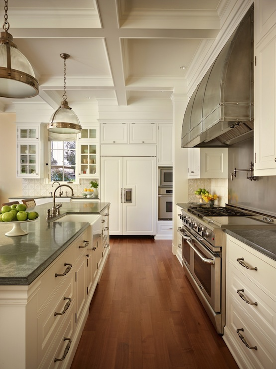 White Cabinets With Gray Countertops Traditional