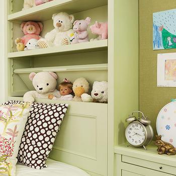 Bookcase Headboard, Traditional, girl's room, Tim Barber