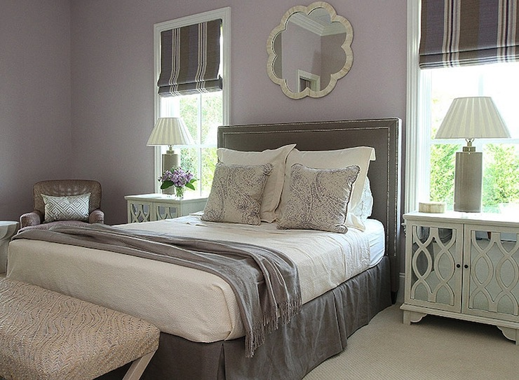 Gray and purple bedroom transitional bedroom andrew for Bedroom ideas lilac