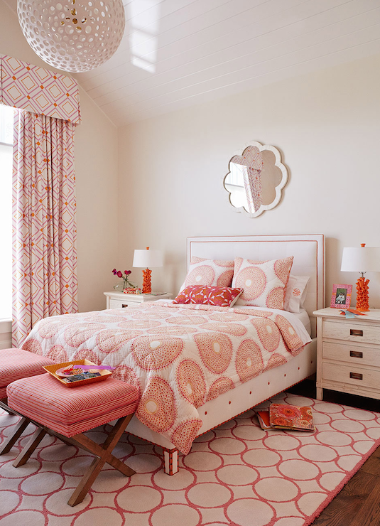 pink and orange girl s room contemporary girl s room 19455 | 9176992a7899