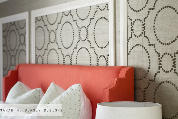 Coral Headboard Contemporary bedroom Sarah M Dorsey Designs