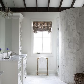 Curved Marble Shower, Transitional, bathroom, Southern Living
