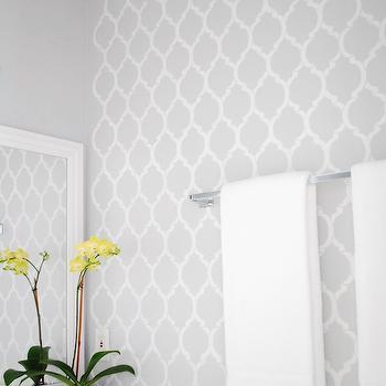 Quatrefoil Wall Stencil, Contemporary, bathroom, Valspar Chromium, A Pumpkin and a Princess