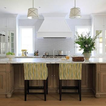 Grosvenor Single Pendant, Cottage, Kitchen, Benjamin Moore White Diamond, Andrew Howard Interior Design