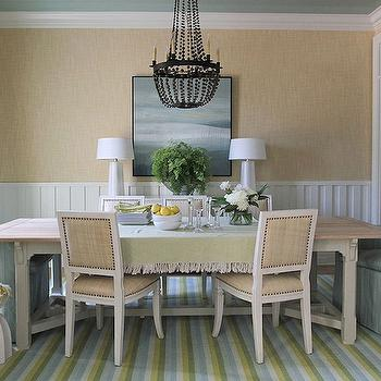 Blue and Green Cottage Dining Room, Cottage, dining room, Andrew Howard interior Design