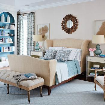 Wingback Bed, Transitional, bedroom, Andrew Howard interior Design
