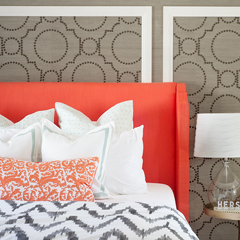 Sherwin Williams Grasscloth Wallpaper, Contemporary, bedroom, Sarah M. Dorsey Designs