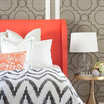 Chevron Duvet Cover, Contemporary, bedroom, Sarah M. Dorsey Designs