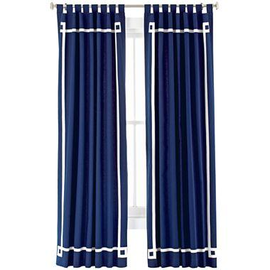 Happy Chic By Jonathan Adler Elizabeth Canvas Curtain Panel I Jcpenney