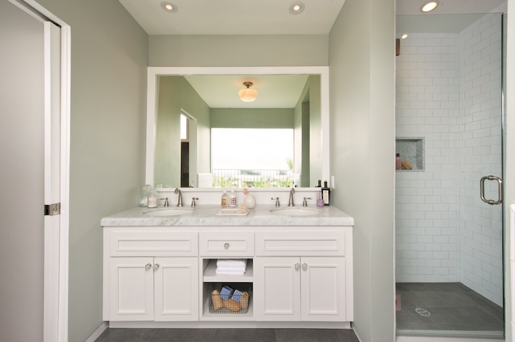 Bathroom Mirror Ideas Double Vanity white double vanity ideas - transitional - bathroom - simo design