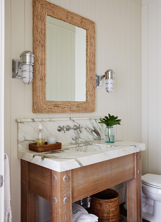 Driftwood Sink Vanity Eclectic Bathroom Brandon