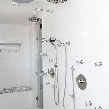 His and Her Shower Heads, Traditional, bathroom, Andrew Howard interior Design