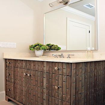 Carved Wood Vanity, Contemporary, bathroom, Andrew Howard interior Design