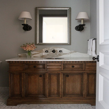 Elegant Powder Room, Traditional, bathroom, Andrew Howard interior Design