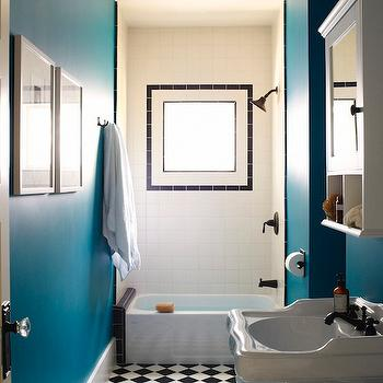 Peacock Blue Bathroom