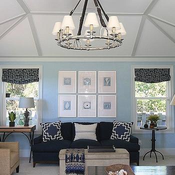 Light Blue Roman Shades Design Ideas