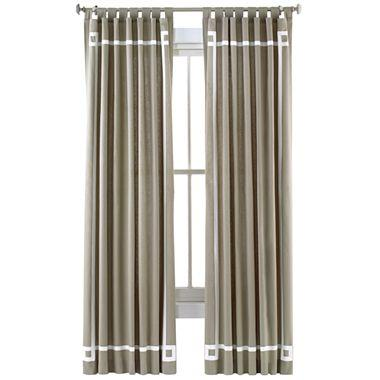 Happy Chic By Jonathan Adler Lola Canvas Curtain Panel I
