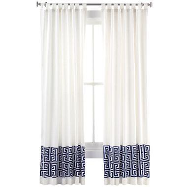 Happy Chic By Jonathan Adler Elizabeth Faux Linen Curtain