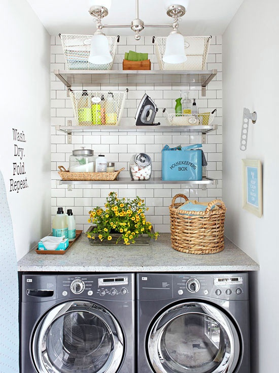 Marvelous Vintage Laundry Room Design