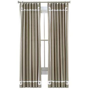 Happy Chic By Jonathan Adler Katie Canvas Curtain Panel I
