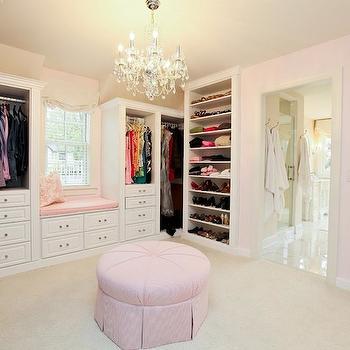 Pink Closet, Traditional, closet, Refined LLC