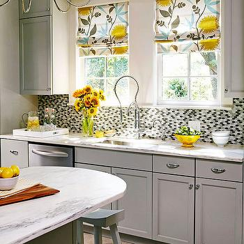 Gray And Yellow Kitchen Contemporary Kitchen Lisa
