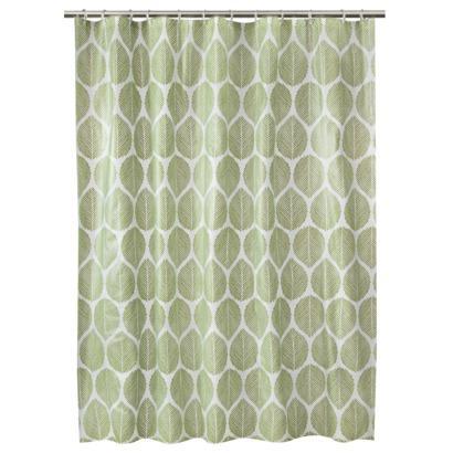 Room Essentials Green Leaf Shower Curtain