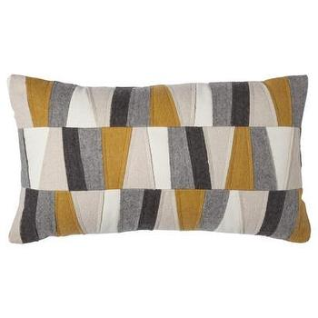 Threshold Felt Patches Decorative Pillow, Gold I Target