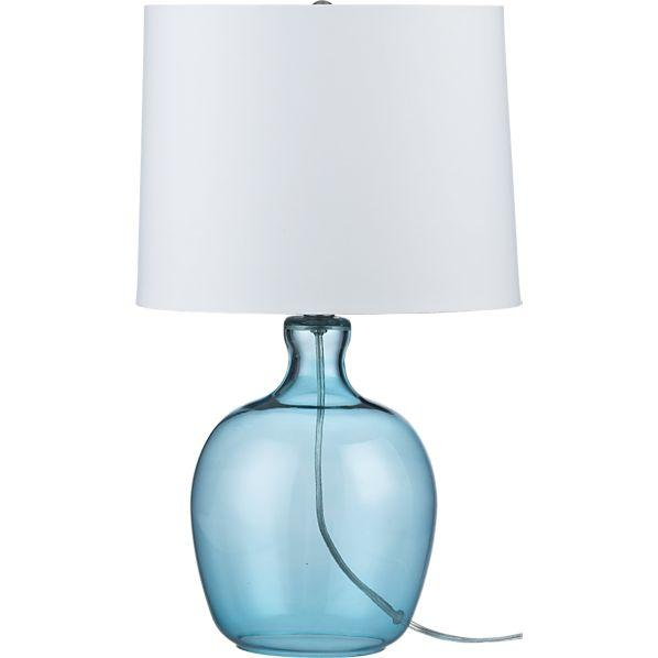 Clarity Blue Table Lamp I Crate And Barrel