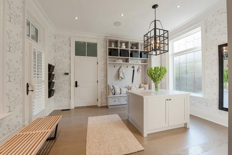 Huge mudroom contemporary laundry room pricey pads - Large laundry room ideas ...