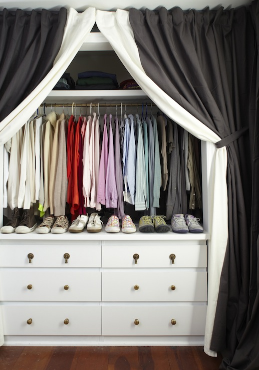 Curtains In Place Of Closet Doors Design Ideas