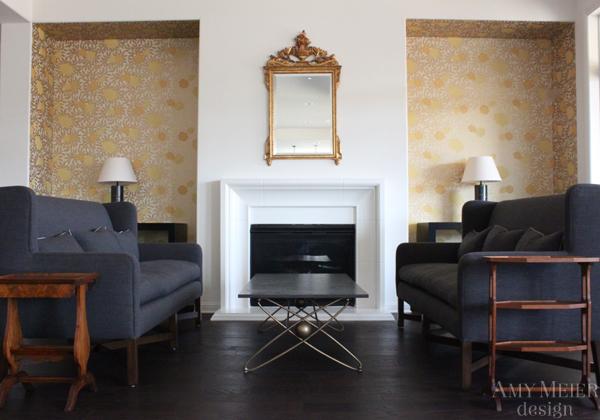 Fireplace Alcoves Contemporary Living Room Amy Meier