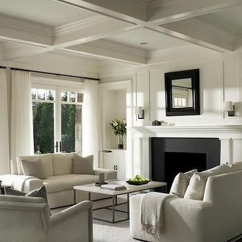 White Living Room, Transitional, living room, Shope Reno Wharton