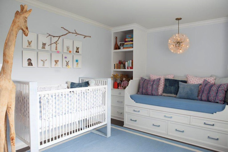 Nursery Daybed Contemporary Nursery Benjamin Moore First Snowfall Kishani Perera