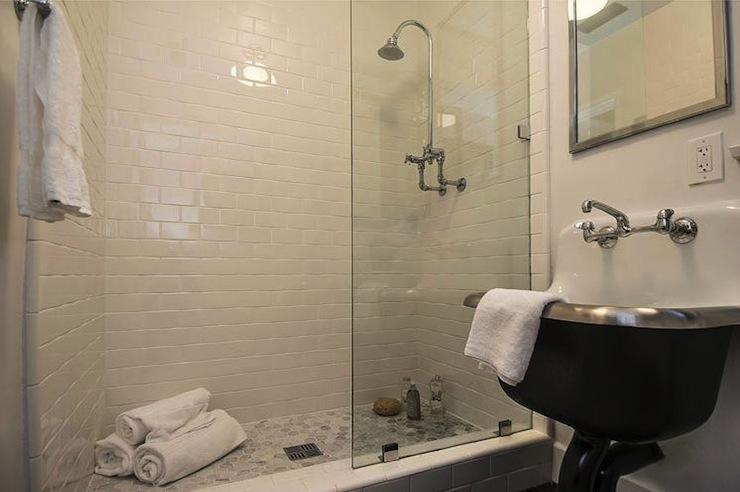 Subway Tile Shower Contemporary Bathroom Kishani Perera