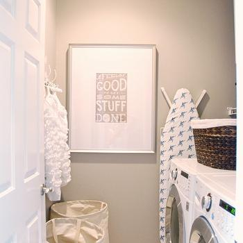 White and Gray Laundry Room, Traditional, laundry room, McGee Life