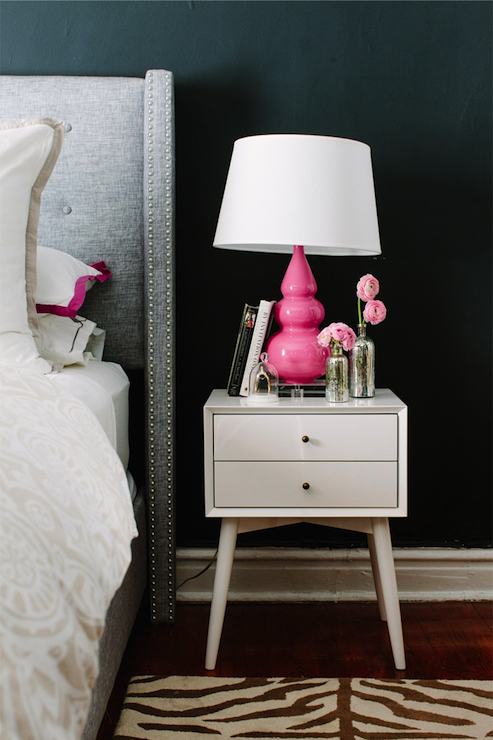 Gray And Pink Bedroom Contemporary Bedroom Farrow Ball Pitch Blac