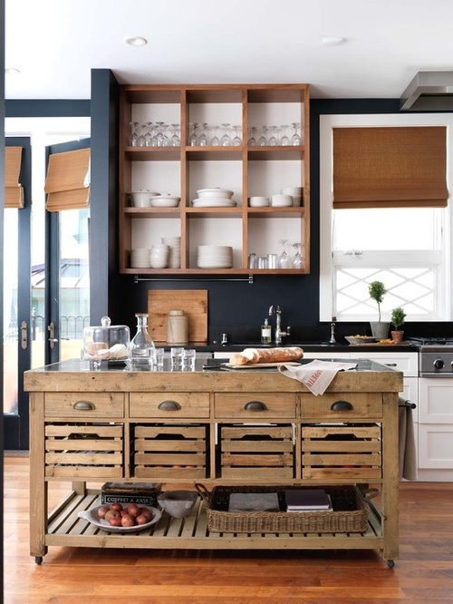 Blue And Brown Kitchen Design Ideas