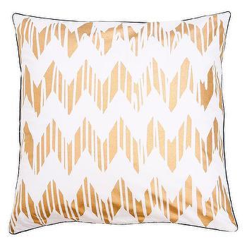 Allem Studio Chevron Gold Pillow I zinc door