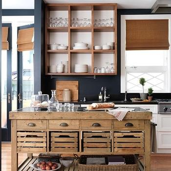 Blue and brown kitchen design ideas for Brown and blue kitchen ideas