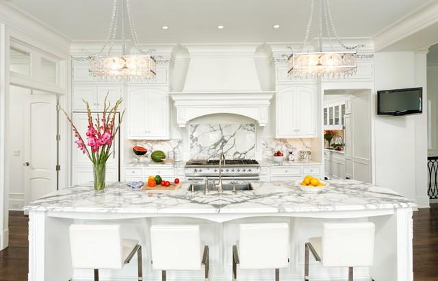 Calacatta Marble French Kitchen Bradford Designs