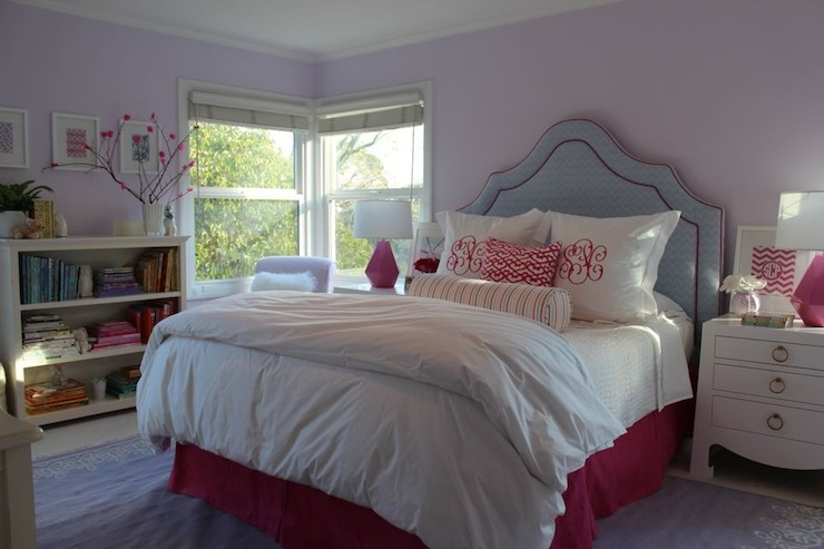 blue and pink girl s room contemporary girl s room 16686 | 682529fafe11