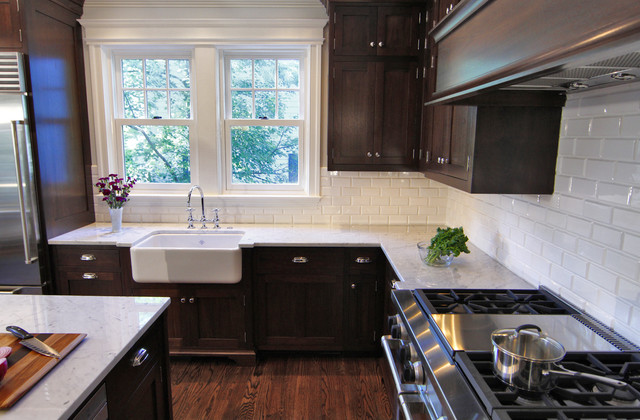 Beveled Subway Tile Traditional Kitchen Bradford Designs
