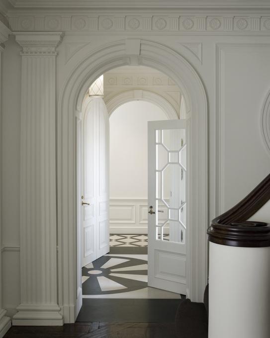 Geometric Door Traditional Entrance Foyer Andrew