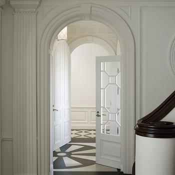 Geometric Door, Traditional, entrance/foyer, Andrew Skurman Architects