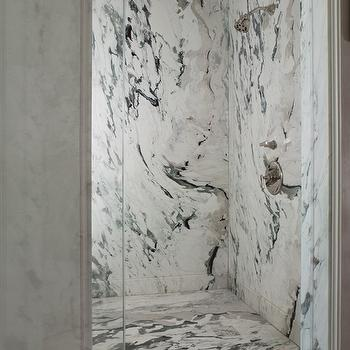 Marble Shower Design, Traditional, bathroom, Andrew Skurman Architects