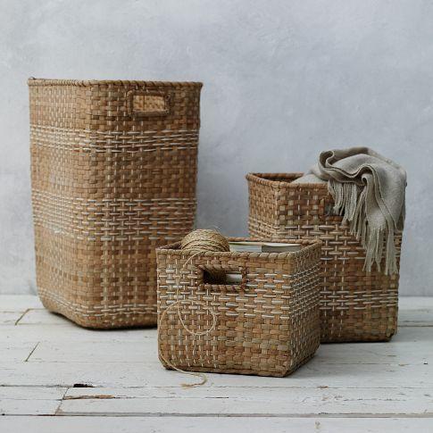 decorative wall baskets west elm.htm plaid weave basket collection west elm  plaid weave basket collection west elm