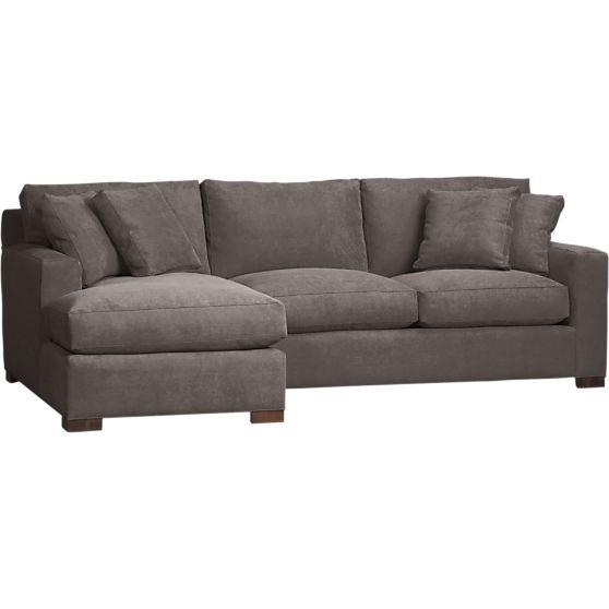Axis 2 piece left arm chaise sectional in sectional sofas for 2 piece sectional sofa with chaise