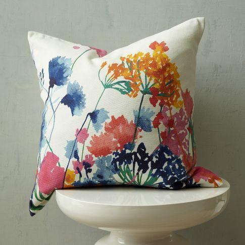 fiesta floral pillow cover west elm. Black Bedroom Furniture Sets. Home Design Ideas
